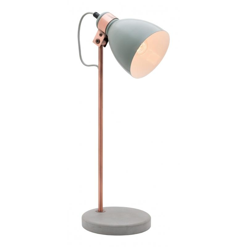 Orlando Concrete Amp Copper Table Lamp