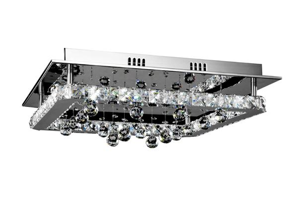 LED 16W Square Crystal Ceiling Light