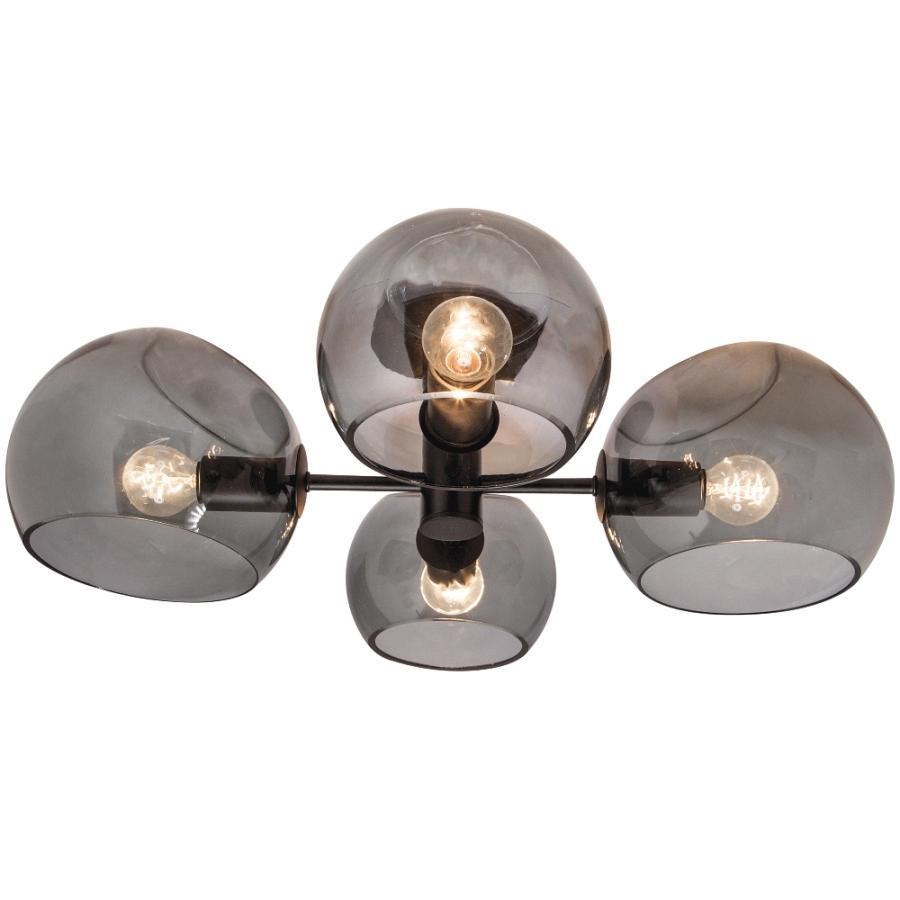 MILAN - 4Lt Ceiling Light - Black / Smok