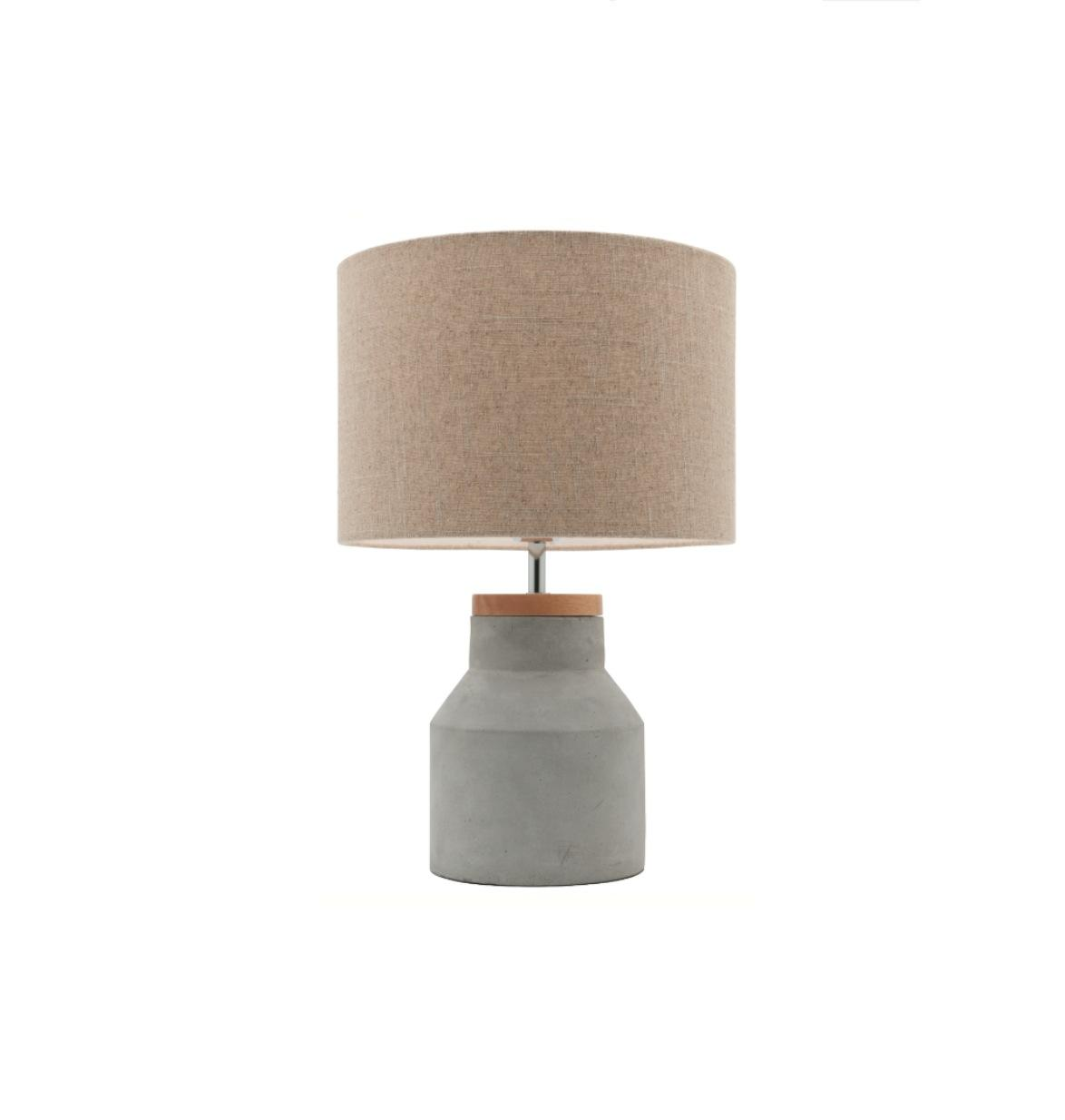 Moby Concrete Amp Timber Table Lamp