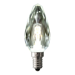 CANDLE LED 4W WW E14 CLEAR TWIST - Click for more info