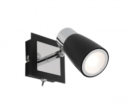 Alecia 1Lt LED Spot - Blk with Switch - Click for more info