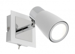 Alecia 1Lt LED Spot - Wht with Switch - Click for more info