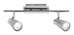 Alecia 2Lt Spot Bar - Brushed Chrome - Click for more info