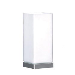 Cube Touch Table Lamp - Brsh Chrome - Click for more info