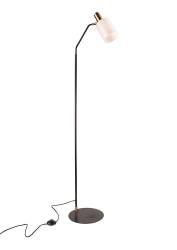 BALMORAL White Glass Shade Floor Lamp - Click for more info