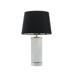 AGORA TABLE LAMP - CH / MARBLE / BLK - Click for more info