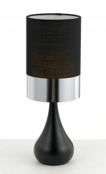 AKIRA TABLE LAMP - Blk/Chrome - Click for more info
