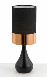 AKIRA TABLE LAMP - Blk/Copper - Click for more info