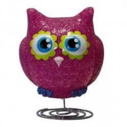 PINK OWL LAMP - Click for more info
