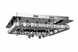 LED 16W Square Crystal Ceiling Light - Click for more info
