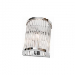 CANTERBURY 1Lt Wall Lamp - Ch/Glass rods - Click for more info
