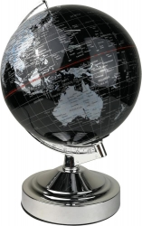 WORLD GLOBE Touch Lamp - Silver - Click for more info
