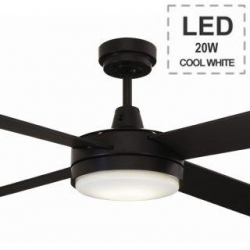 LUNA FAN 1300 LED Light - Black - Click for more info