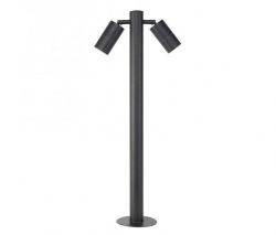 Black Double Adj Bollard LED CW - Click for more info