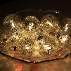 GOLD GLASS BALLS String Light - WW - Click for more info