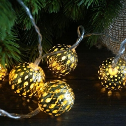 GOLD METAL BALL String Light - WW - Click for more info
