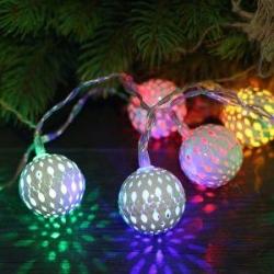 WHITE METAL BALL String Light - Click for more info