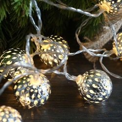 SILVER METAL BALL String Light - WW - Click for more info