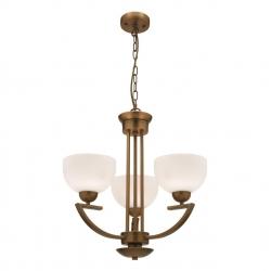 Hepburn - 3Lt Pendant - Aged Brass - Click for more info