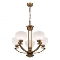 Hepburn - 5Lt Pendant - Aged Brass - Click for more info