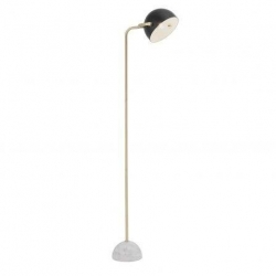 AINSLEY Black and Satin Brass Floor Lamp - Click for more info