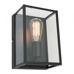 Manchester 1Lt Wall Lamp - Matt Black - Click for more info