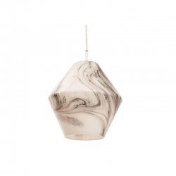 BEVERLY 1Lt Pend - White Opal Glass - La - Click for more info