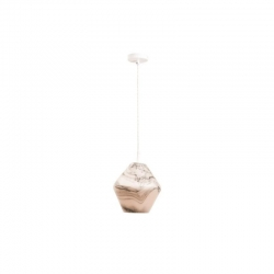 BEVERLY 1Lt Pend - White Opal Glass - Sm - Click for more info