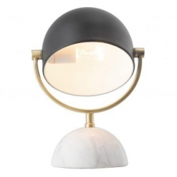 AINSLEY Black and Satin Brass Table Lamp - Click for more info