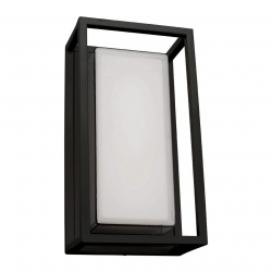 Cayman - 12W LED Ext W/Light 3K - Black - Click for more info