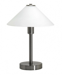 OHIO TABLE LAMP NICKLE OPAL MA - Click for more info