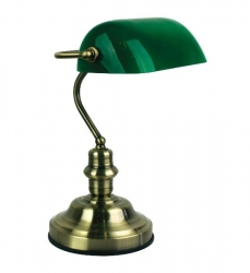 Bankers Touch Antique Brass / Green - Click for more info
