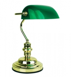 Bankers Touch Brass / Green - Click for more info