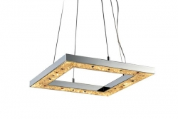 LED 36W Hollow Sq Crystal Pendant - Click for more info