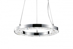 LED 29W Donut Crystal Pendant - Click for more info