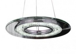 LED 12W 1 Ring Crystal Pendant - Click for more info