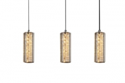 LED 16W Triple Bars Crystal Pendant - Click for more info
