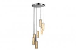 LED 38W Multi Bars Crystal Pendant - Click for more info