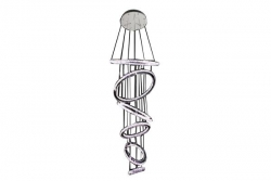 LED 129W 6 Rings Crystal Pendant - Click for more info