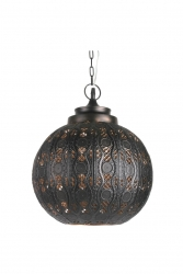 Kobi Round Pendant - Brown - Click for more info