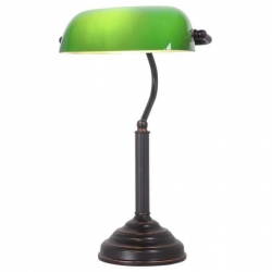 STUDY TABLE LAMP -  BRZ/GR - Click for more info