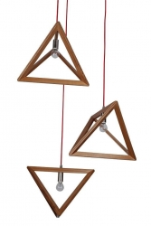 TIMBER PENDANT LAMP - TRIANGLE - Click for more info